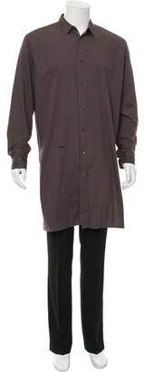 Robert Geller Longline Woven Shirt