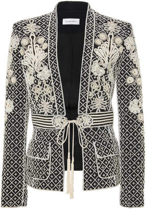 Murad Zuhair Embroidered Belted Crepe Jacket