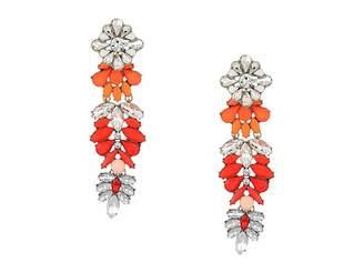 Steve Madden Floral Warm Jeweled Drop Earring