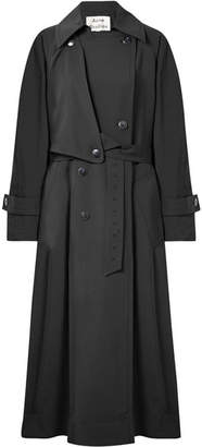 Acne Studios Amarris Oversized Twill Trench Coat - Black