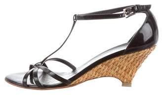 Prada Ankle Strap Wedge Sandals