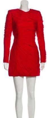 Valentino Long Sleeve Silk Mini Dress