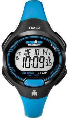 Timex Women's Ironman Essential 10 Mid-Size Watch, Blue Resin Strap