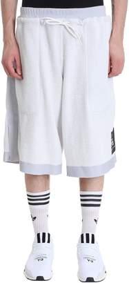 Y-3 Y 3 White Cotton Shorts