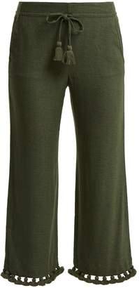 Figue Felipe tassel-hem silk-blend trousers