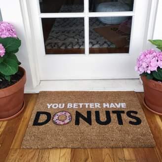 Lulu & Georgia You Better Have Donuts Doormat