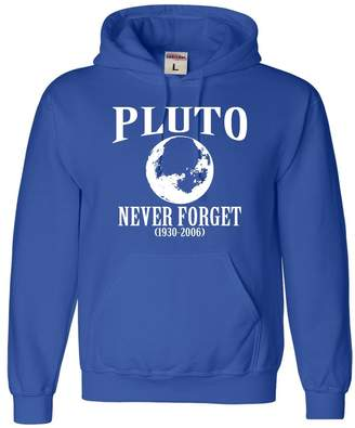 Go All Out Adult Pluto Never Forget 1930-2006 Funny Science Sweatshirt Hoodie