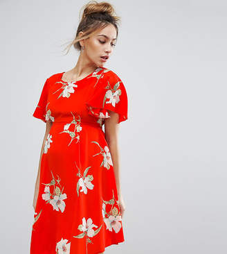 Queen Bee Floral Tea Dress With Tie Back