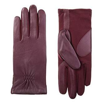 Isotoner Women's Stretch Leather Touchscreen Gloves with Warm Fleece Lining