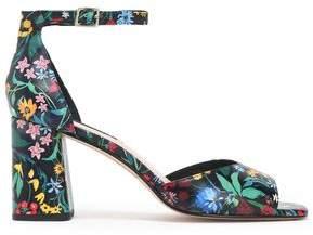 Alice + Olivia Cooper Floral-Print Leather Sandals