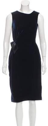 Lanvin Velvet Sheath Dress