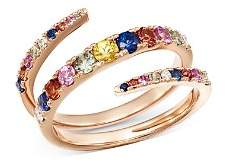 Bloomingdale's Multicolor Sapphire & Diamond Spiral Ring in 14K Rose Gold - 100% Exclusive