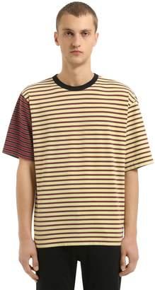 Marni Oversized Striped Cotton Jersey T-Shirt