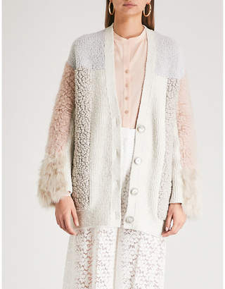 Stella McCartney Patchwork knitted cardigan