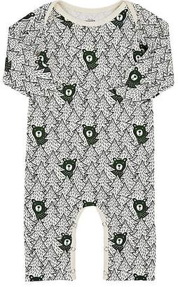 Factory Winter Water Bear-Print Cotton Coverall