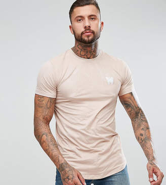 Asos Good For Nothing Muscle T-Shirt In Pink Suedette Exclusive To