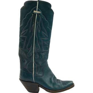 Non Signé / Unsigned Non Signe / Unsigned Blue Leather Boots