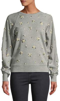 Joie Jesiah Embellished Pullover Sweatshirt
