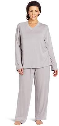 Casual Moments Women's Plus-Size Pajama V-Neck Set