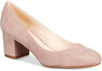 Bar III Petunia Block-Heel Pumps, Only at Macy's $69.50 thestylecure.com