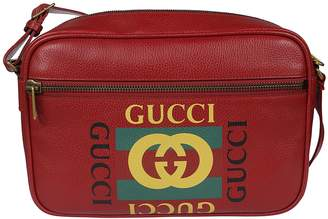 Gucci Logo Print Shoulder Bag