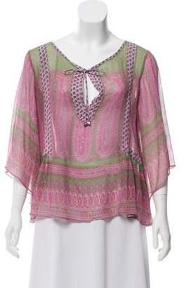Calypso Silk Paisley Print Top