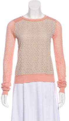 Diane von Furstenberg Knit Scoop Neck Sweater Pink Knit Scoop Neck Sweater