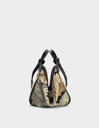 Loewe Hammock Camo Small Bag in Green Multitone Canvas and Calfskin