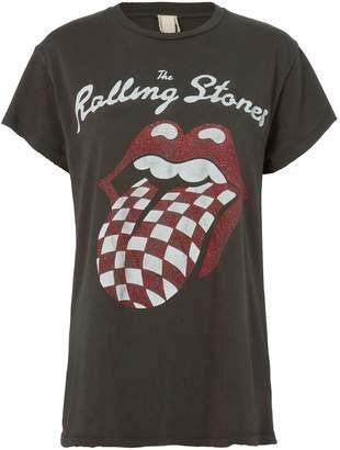 Madeworn Rolling Stones Glitter Logo T-Shirt