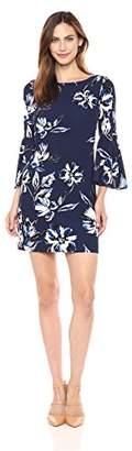 Eliza J Women's Plus Size Bell Sleeve Floral Dress