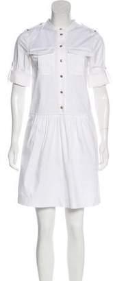 Burberry Button-Up Mini Dress