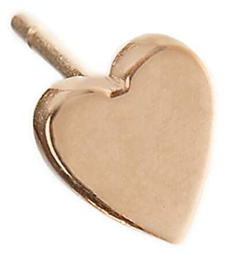 Jennifer Meyer Heart Single Stud Earring - Rose Gold