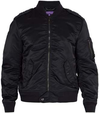 Ralph Lauren Purple Label Chiswell Gunners ribbed nylon bomber jacket