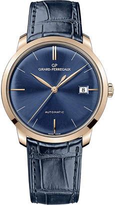 Girard Perregaux Girard-Perregaux 49525-52-432-bb4a 38mm blue alligator and rose gold automatic watch