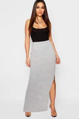 boohoo Side Split Jersey Midaxi Skirt