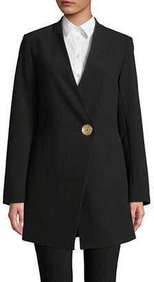 Donna Karan Long Collarless Jacket