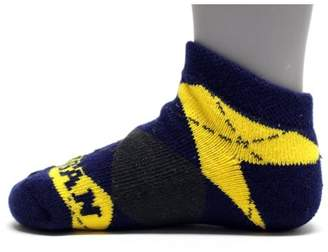 Donegal Bay Michigan Wolverines Youth Argyle No Show Sock