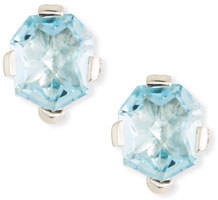 Stephen Dweck Swiss Blue Topaz Freeform Stud Earrings