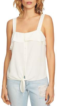 1 STATE 1.STATE Ruffle-Trim Tie-Front Top