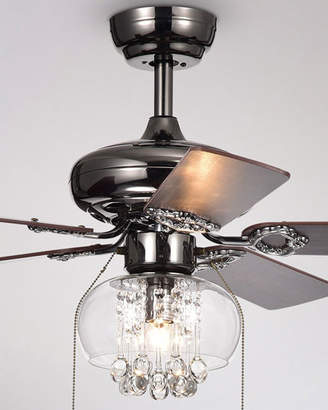 Home Accessories Aequor Crystal Drops Chandelier Ceiling Fan
