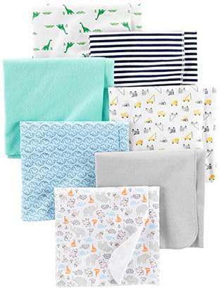 Carter's Simple Joys by Baby Boys' 7-Pack Flannel Receiving Blankets
