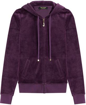 Juicy Couture J Bling Velour Hoodie $179 thestylecure.com
