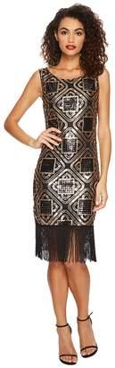 Unique Vintage Sequin Fringe Flapper Dress Women's Dress