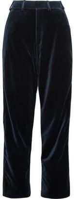 Vetements + Brioni Cotton And Silk-Blend Velvet Straight-Leg Pants