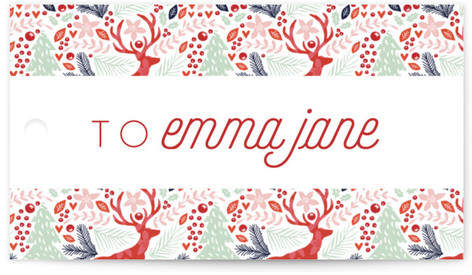 Jumping Reindeer Gift Tags