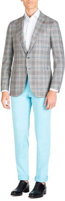 Isaia Men's Comfort Mid-Rise Pants