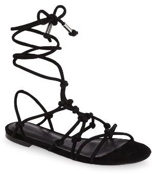 Women's Rebecca Minkoff Elyssa Lace-Up Flat Sandal $124.95 thestylecure.com