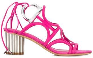 Salvatore Ferragamo Flower Heel Gancini sandals