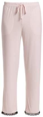 Saks Fifth Avenue Lace-Trimmed Lounge Pants