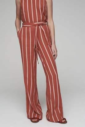 Stripe Wide Leg Linen Trouser